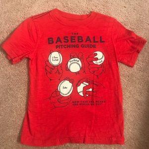 Cater's 5T baseball shirt